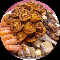 原隻鮑魚頂級客家盆菜  (中盆8位)